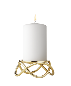 GJ Georg Jensen Glow_Candleholder_Gold