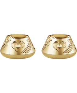 GJ Georg Jensen Christmas_Collection_Gold_Candle Holder