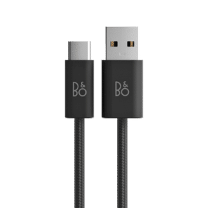 B&O Fabric Charging Cable Black